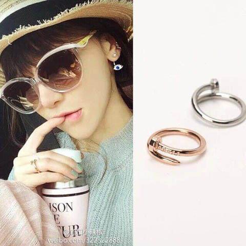 釘子戒指 玫瑰金 金色 白鋼色_0