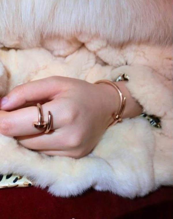釘子戒指 玫瑰金 金色 白鋼色_1