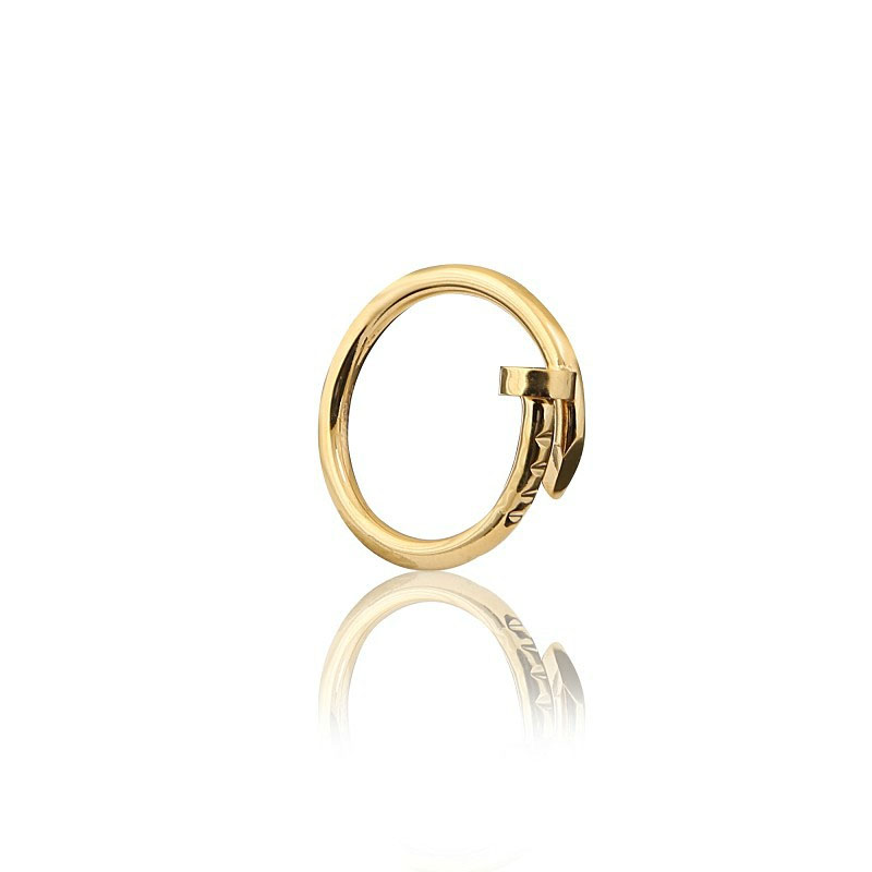釘子戒指 玫瑰金 金色 白鋼色_3