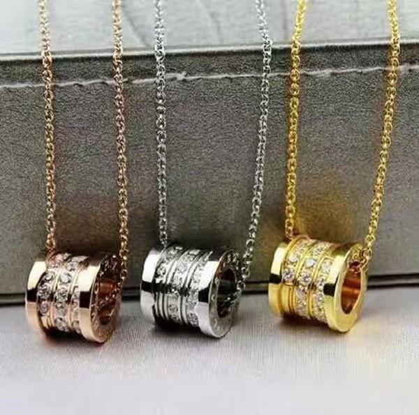 圓筒車輪鑲鑽項 羅志祥同款嵌鑽情侶款項鍊_0