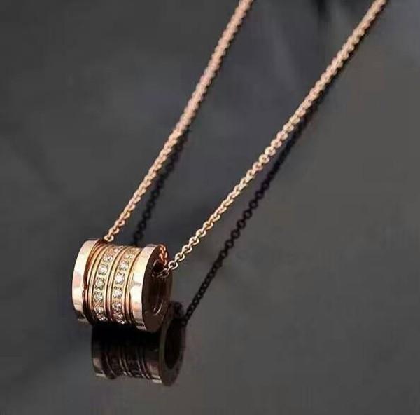 圓筒車輪鑲鑽項 羅志祥同款嵌鑽情侶款項鍊_1