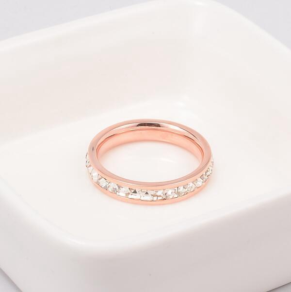 韓版18K玫瑰金滿鑽鈦鋼戒指_1
