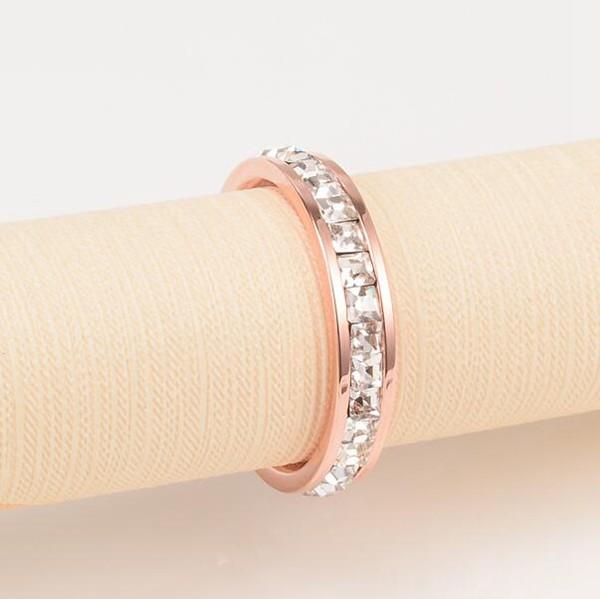 韓版18K玫瑰金滿鑽鈦鋼戒指_0