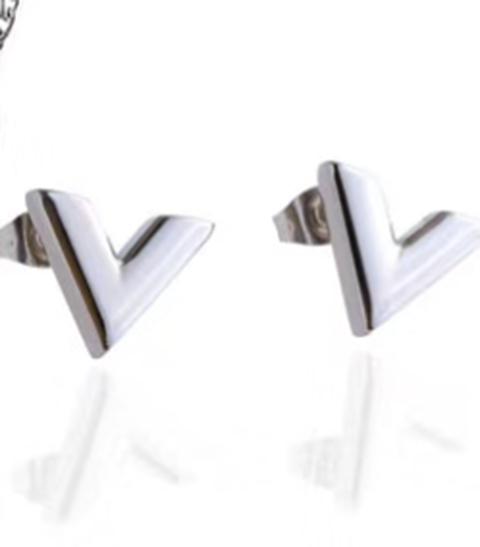 新款 V型三色耳環mx_2