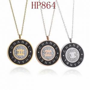 香家 新款圓形鑲鑽雙C項鍊HP864mx