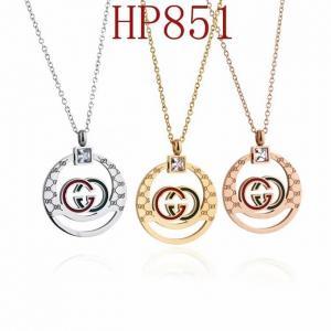 古奇 新款圓形鏤空紅綠雙G項鍊HP851mx