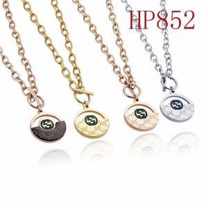 古奇 新款圓形半鏤空雙G 棍子扣項鍊HP852 mx