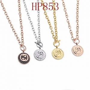 古奇 新款圓形大雙G 棍子扣項鍊HP853mx