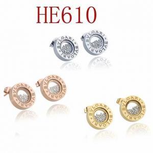 寶家 新款圓形珠子耳釘 耳環HE610