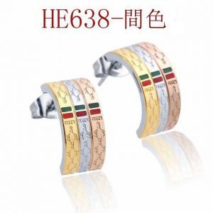 古奇 新款 半圈雙G間色耳環 耳釘HP638mx