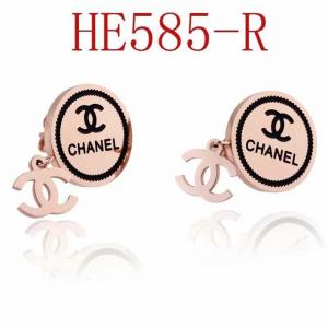 香家 新款圓形雙C耳環 耳釘 HE585mx