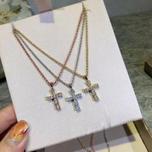 寶家 厚實版滿鑽十字架純銀項鍊afe
