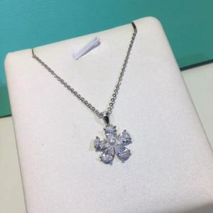 蒂家 爆款花朵鑽石項鍊afe