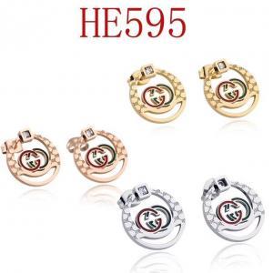 古奇 新款圓形綠紅雙G耳環HE595mx