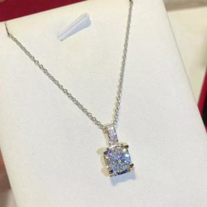 純銀 卡家 牛角項鍊 鑽石項鍊logo刻字afe