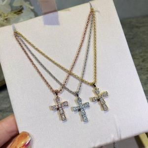 寶家 滿鑽十字架項鍊afe