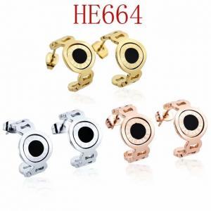 寶家 新款弧形黑貝耳環HE664