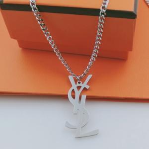 YSL 鈦鋼飾品項鍊 字母Logo粗鍊項鍊