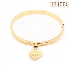 蒂家 單愛心英文字母logo手環HB455