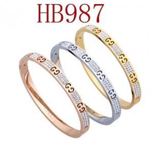 古奇 雙G 泥巴鑽手環HB987