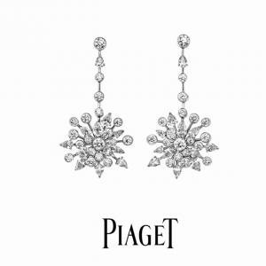 Piaget伯爵 明星同款 璀璨鑽石耳環afe