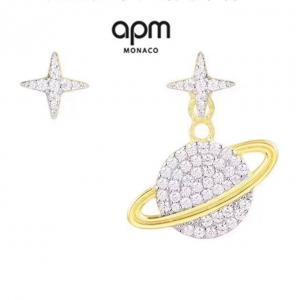 APM 宇宙星球系列 土星星星不對稱耳環afe