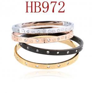 古奇 雙G簡約 鑲鑽手環HB972