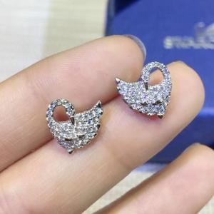 施華洛世奇 專櫃同款 新款天鵝鑲鑽耳環afe