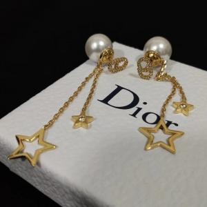 迪奧 專櫃同步款 珍珠后托 星星流蘇耳環dy