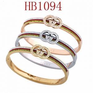 古奇 雙G鑲鑽 彩鑽奢華手鐲HB1094