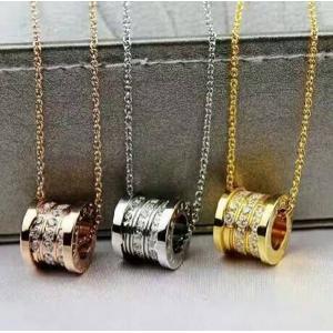 圓筒車輪鑲鑽項 羅志祥同款嵌鑽情侶款項鍊