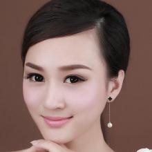 韓國鈦鋼幸運草流蘇耳釘 防過敏不掉色玫瑰金