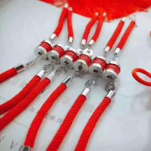 寶家 純銀新款 紅陶瓷紅繩手鍊sd