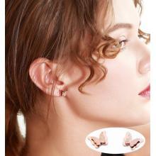 玫瑰金耳釘 女生 蝴蝶耳環