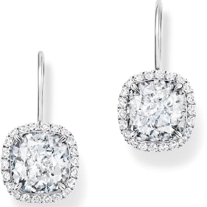 海瑞溫斯頓 Diamond Links系列 劉嘉玲同款鑽石耳環afe