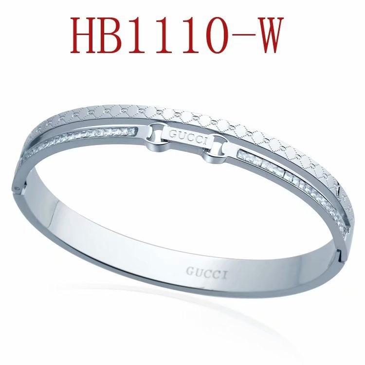 古奇 雙G方鑽手鐲HB1110_3