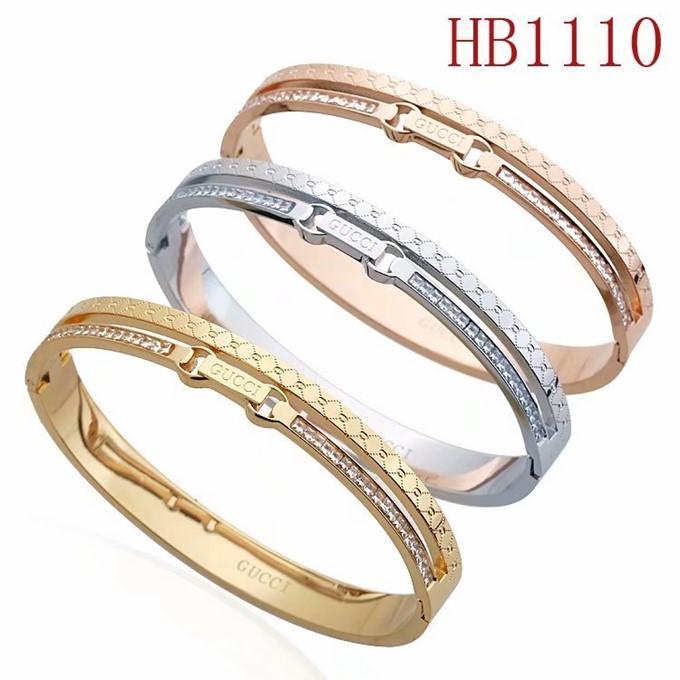 古奇 雙G方鑽手鐲HB1110_0