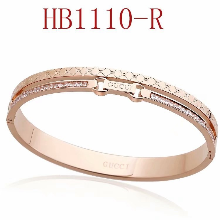 古奇 雙G方鑽手鐲HB1110_1