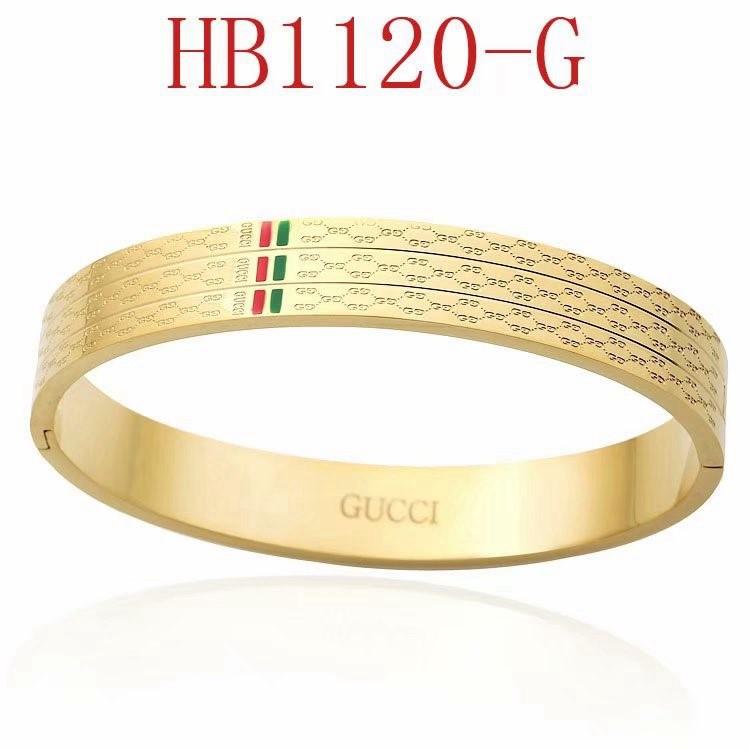 古奇 新款寬版雙G綠紅綠手鐲HB1120_6