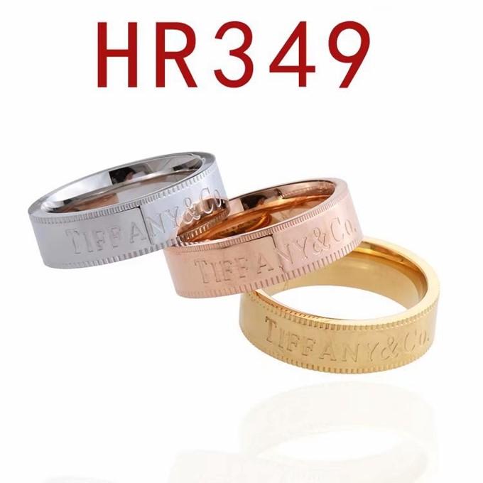 蒂家 新款簡練英文字母logo戒指HR349_0