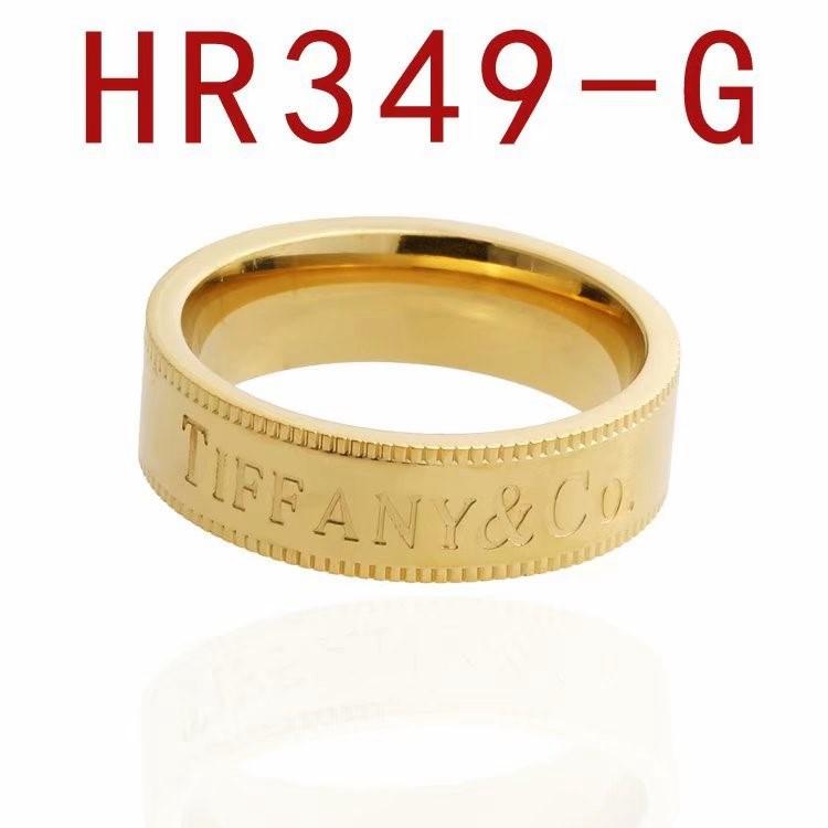 蒂家 新款簡練英文字母logo戒指HR349_3