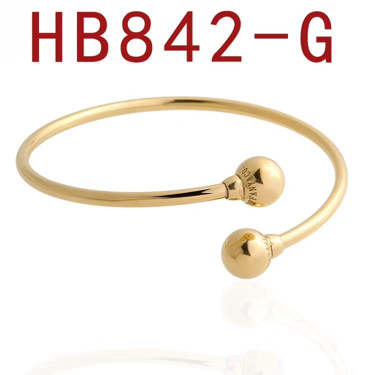 蒂家 圓珠子開口手鐲HB842_1