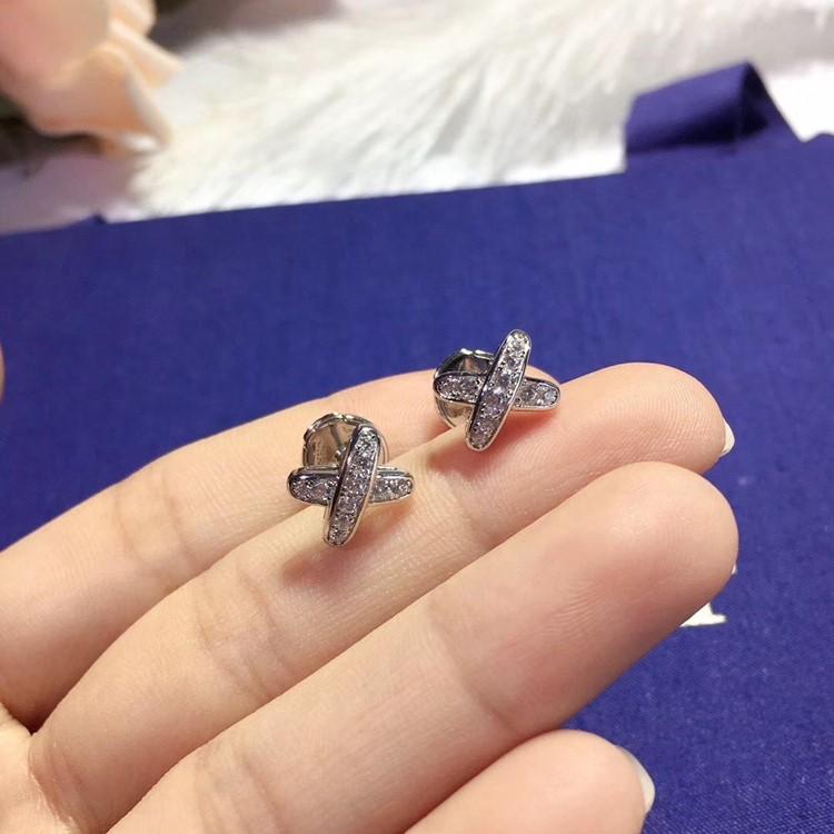 純銀 CHAUMET 尚美巴黎 超模何穗同款X型耳環_8