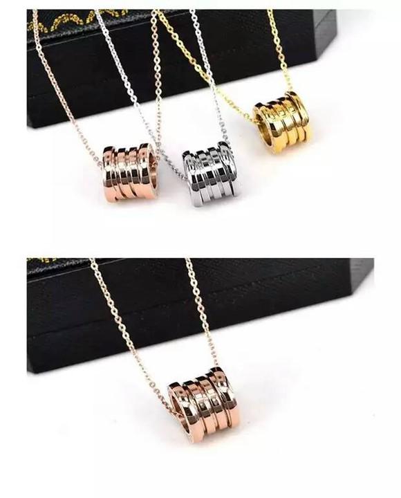 經典彈簧鈦鋼項鍊 18K玫瑰金 金色 白金色 歐美時尚短鏈鎖骨鏈男女款_1