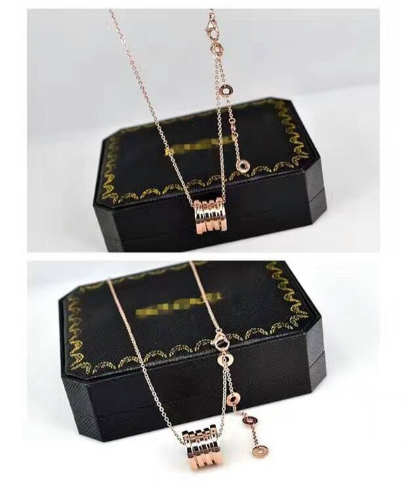 經典彈簧鈦鋼項鍊 18K玫瑰金 金色 白金色 歐美時尚短鏈鎖骨鏈男女款_2