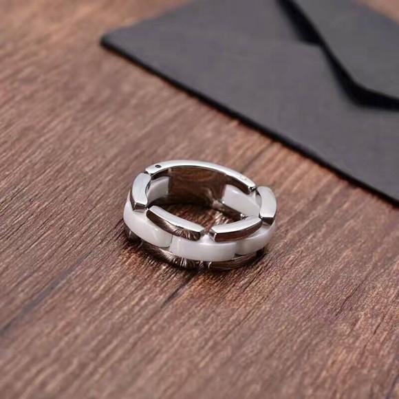 鈦鋼 陶瓷戒指 黑白兩色_1